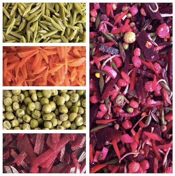 """Todos los vegetales se cocinan de forma independiente, en un punto """"al dente""""."""
